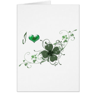 Love Shamrock digital art design Note Card