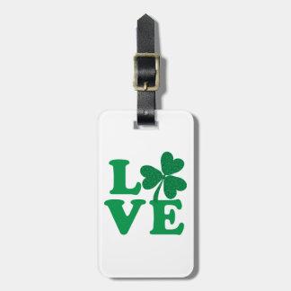 Love-Shamrock Luggage Tag