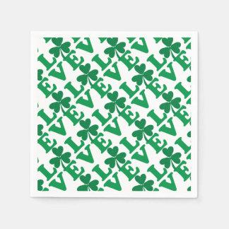 Love-Shamrock Paper Napkins