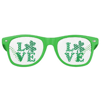 Love-Shamrock Retro Sunglasses