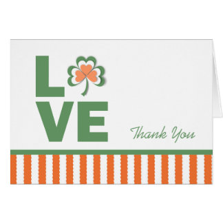 Love Shamrock Thank You Card