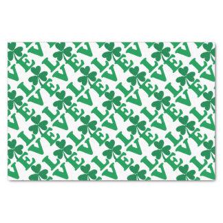 Love-Shamrock Tissue Paper