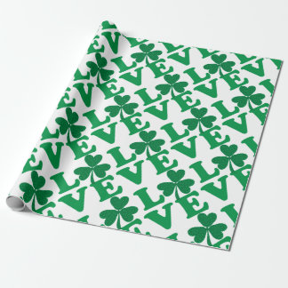 Love-Shamrock Wrapping Paper