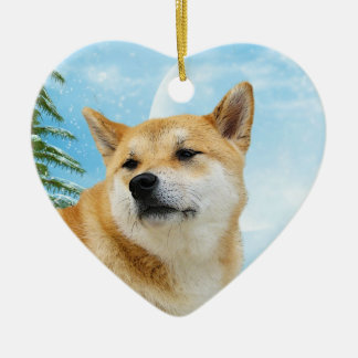 Love Shiba Inu Christmas Ornament