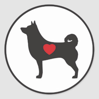 Love Shiba Inu - Circle Sticker