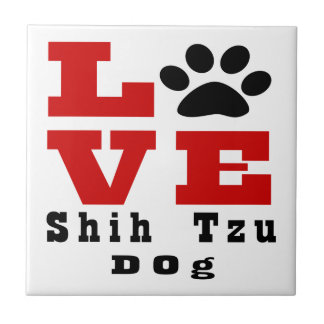 Love Shih Tzu Dog Designes Ceramic Tiles