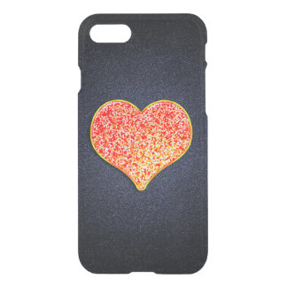 LOVE -Shiny Pink gold Custom iPhone 7 Clearly Case