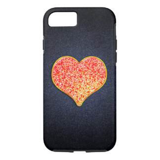 LOVE - Shiny Pink Gold - iPhone 7, Tough iPhone 7 Case