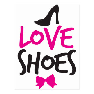 Love Shoes with cute little bow Postcard