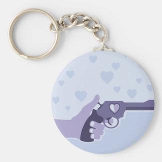 Love Shot vector Basic Round Button Keychain