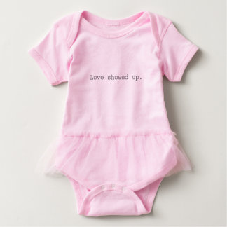 Love showed up Baby Romper with Tutu