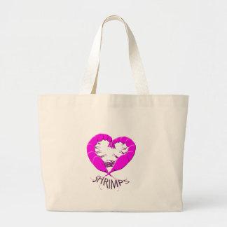 love shrimps large tote bag