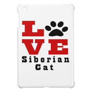 Love Siberian Cat Designes iPad Mini Case