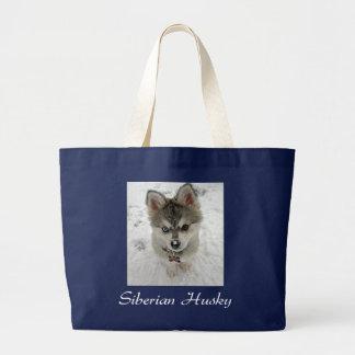 Love Siberian Husky Puppy Dog Canvas Tote Bag
