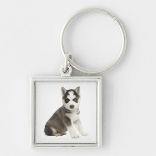 Love Siberian Husky Puppy Dog Keychain