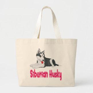 Love Siberian Husky Puppy Dog Tote Bag