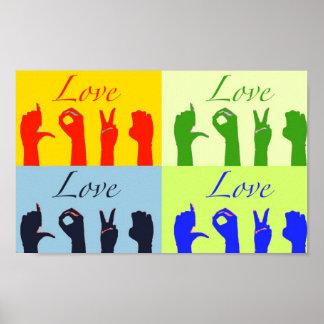 Love signs pop art