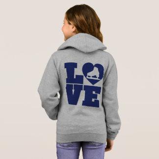Love Skate Girls' Girls' Basic Zip Hoodie