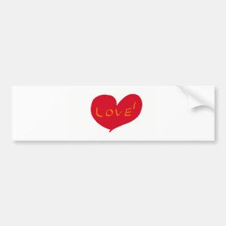 Love sketch bumper sticker