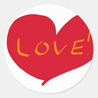 Love sketch classic round sticker