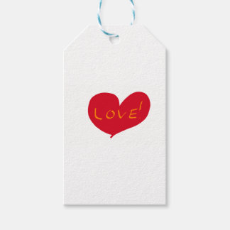 Love sketch gift tags