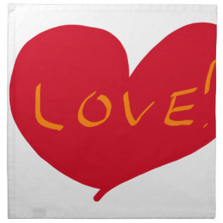 Love sketch napkin
