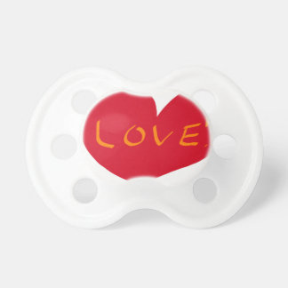 Love sketch pacifier