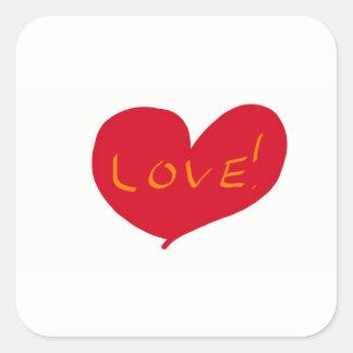 Love sketch square sticker