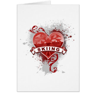 Love Skiing Card