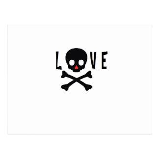 Love Skulls and Bones Postcard