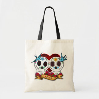 Love Skulls with Bluebirds Bag