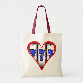 LOVE SLOTS - DISTRESSED TOTE BAG
