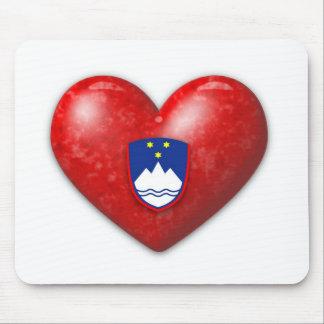 Love Slovenia Mouse Pad