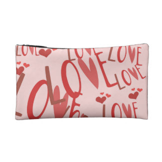 """""""love"""" Small Cosmetic  Bag Makeup Bag"""