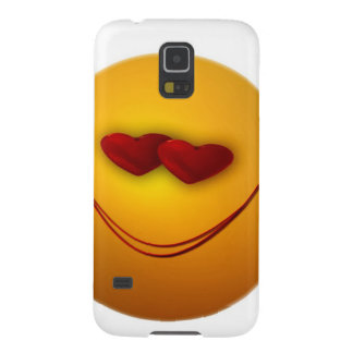 Love Smile Hearts Face Party Destiny Celebration Galaxy S5 Cover