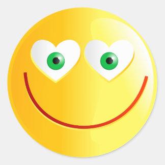 Love Smilie Round Sticker