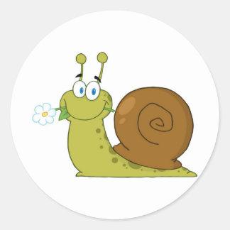 Love Snail Round Stickers