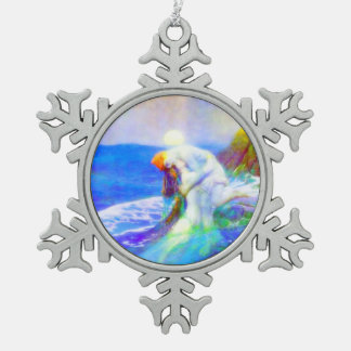 Love Snowflake Pewter Christmas Ornament