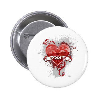 Love Soccer 2 Inch Round Button