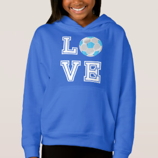 Love Soccer  - Baby Blue and White