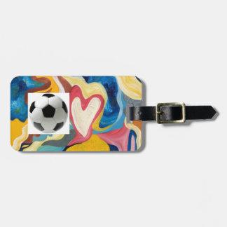 Love Soccer Ball Luggage Tag