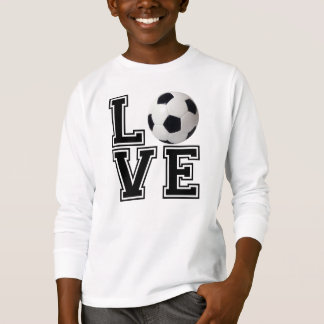 Love Soccer College Style T Shirt