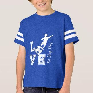 Love Soccer - Eat, Sleep, Play - Boy T-Shirt