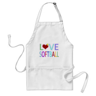 LOVE SOFTBALL APRONS