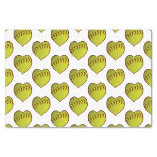 Love Softball Pattern Tissue Paper