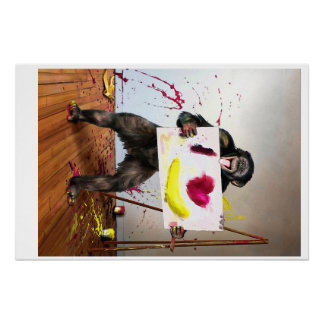 """""""Love Something"""" Chimpanzee 28"""" x 18.67"""" Poster Perfect Poster"""