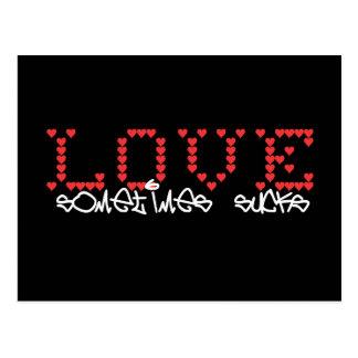 Love sometimes sucks - Card for lovesick girls