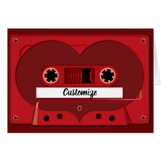 Love Songs  Mix Tape Note Card
