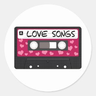 Love Songs Tape Classic Round Sticker
