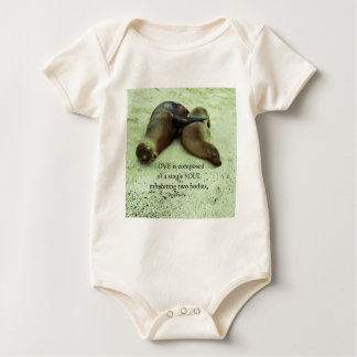 Love soulmates Aristotle quote Baby Bodysuit